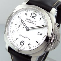 Panerai Unworn  Pam 499 Steel 44 Mm Luminor Marina 1950 White...