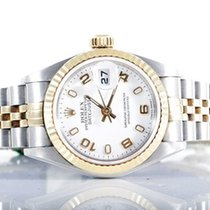 Rolex Ladies 18K/SS Datejust - White Arabic Numeral Dial 79173