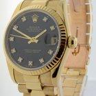 Rolex Midsize Datejust President 18k Yellow Gold Diamond Dial...