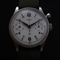 雷玛尼亚 (Lemania) Vintage Military Monopusher Chronograph