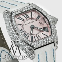 Cartier Pink Ladies Cartier Roadster W62016v3 White Alligator...
