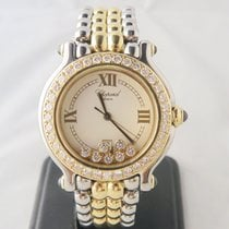 Chopard Happy Sport All Factory Diamonds 18k Gold Steel 32mm