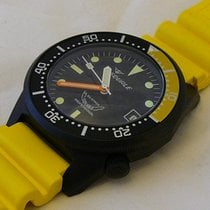 Squale watch Professional 500mt - 1521-026/Y Black PVD, yell