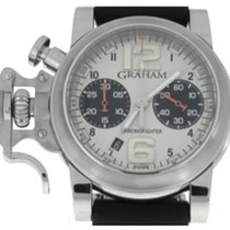Graham Chronofighter R.A.C. Silver Fighter 40 mm Steel Panda...