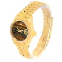 Rolex President Datejust Ladies 18k Yellow Gold Tiger Eye...