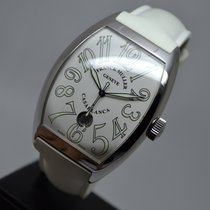 Franck Muller Casablanca XL Steel Date 8880 White 2 Straps...