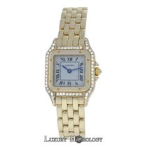 Cartier Mint Ladies Panthere 18K Yellow Gold Diamond Bezel 22mm