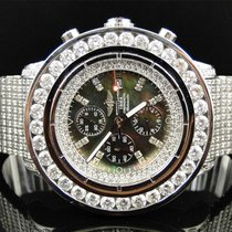 Breitling Mens Custom XL 55.20 Ct Breitling Super Avenger...
