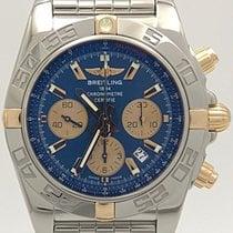 Breitling Stainless Steel & 18k Gold Blue Dial Chronomat...