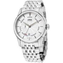 Oris Artelier Silver Dial Steel 44 Mm Men's Watch 745-7666...