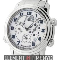Blancpain Leman  Reveil GMT Stainless Steel White Dial  Ref....