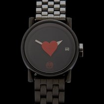 Alain Silberstein Mikro Valentine PVD coated Stainless Steel...