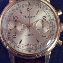 Perfecta 50's Vintage Goldplated Chronograph Kaliber Venus