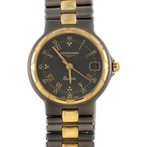 Longines Conquest Men's Gold Plated Stainless Steel Quartz...