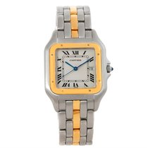 Cartier Panthere Jumbo Steel 18k Yellow Gold One Row Watch
