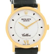 Rolex Cellini Classic Mens 18k Yellow Gold Watch 5115 Box Papers