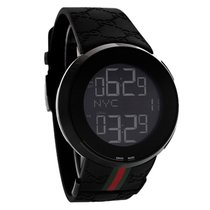 Gucci 114 I-Gucci Mens Black Ionic Dual Time Digital Chronogra...