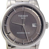 Tissot Luxury Automatic Anthracite Dial Stainless Steel Men...