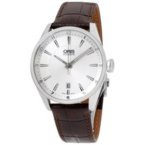 Oris Artix Silver Dial Leather Strap Men's Watch 733771340...