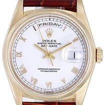 Rolex Men's Rolex President 18k Gold Day-Date Watch White...