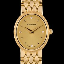 Carl F. Bucherer 18k Yellow Gold Champagne Diamond Dial Ladies...