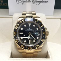 Rolex 116718 GMT-Master II Yellow Gold Black Dial