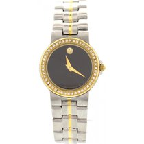 Movado Ladies Movado Museum Bubble 18K Yellow Gold Plated...