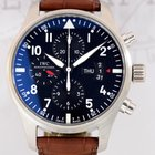 IWC Flieger Chronograph Pilots Automatic Stahl Black B+P Top