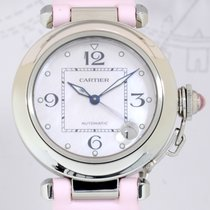 Cartier Pasha Date Automatic Stahl rosé mother of pearl dial...