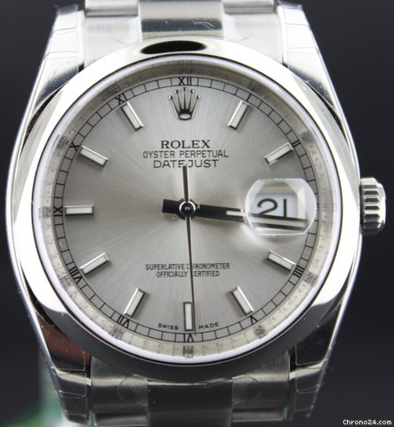 Rolex Date Just All steel grey color dial (ON HOLD)