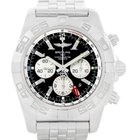 Breitling Chronomat Gmt Steel Black Dial Mens Watch Ab0410