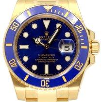 Rolex Submariner 116618LB 116618 Blue Ceramic 18k Yellow Gold...