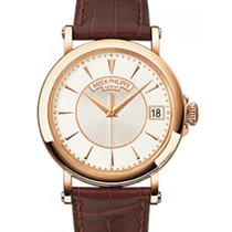 Patek Philippe 5153R-001 Calatrava 38mm Silver Opaline Index...