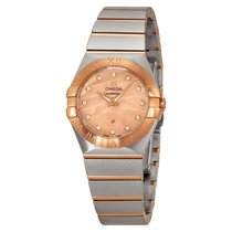 Omega Constellation Red Gold Mother of Pearl Diamond Stainless...