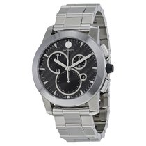 Movado Vizio Black Carbon Fiber Stainless Steel Men's Watch