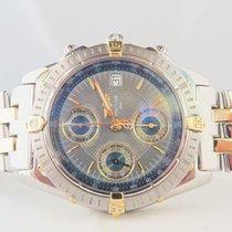 Breitling Chronomat Steel Gold Blue Dial