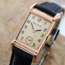 Bulova 1940s Mid Size Manual Dress Watch Rose Gold Filled  D57