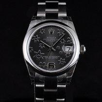 Rolex Datejust Midsize 31mm Steel Grey Floral Dial Random Serial