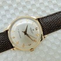 Hamilton Mens Vintage 14K Gold Hamilton Masterpiece Thinomatic...