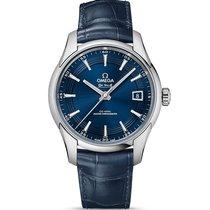 Omega De Ville Steel Blue Dial Hour Vision Orbis 433.33.41.21....