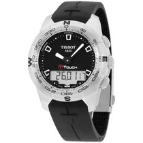 Tissot Men's T0474201705100 T-touch Black Chronograph Dial...