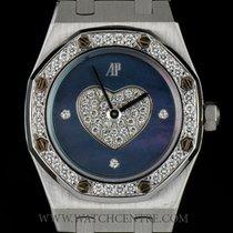 Audemars Piguet 18k W/G Rare Blue MOP Dial Diamond Set Royal...