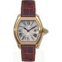 Cartier Roadster Ladies' Watch 18K Yellow Gold Silver Dial...