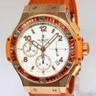 Hublot Big Bang Tutti Frutti 18k Rose Gold Orange Sapphire...