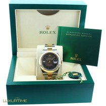 Rolex 116333 Datejust 2 Slate Dial Green Roman Numerals Two Tone