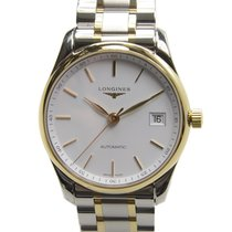 Longines Master 18k Gold Steel White Automatic L2.518.5.12.7