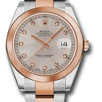 Rolex Datejust 41 Steel and Pink Gold - Smooth Bezel - Oyster