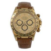 Rolex Daytona Y/G Champagne Diamonds Dial B&P ref. 16518