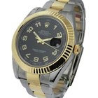 Rolex Used Datejust II 2 Tone with Black Arabic Dial