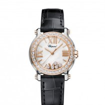 Chopard 278509-6006 Happy Sport30mm Pearl Gold Diamonds Lady